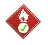 Fire test sign